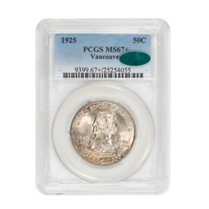 Click now to see the BUY IT NOW Price! VANCOUVER 1925 50C SILVER COMMEMORATIVE PCGS MS67   CAC