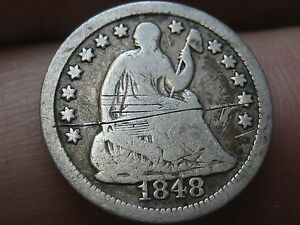 1848 O SEATED LIBERTY HALF DIME  LOW MINTAGE SEMI KEY DATE