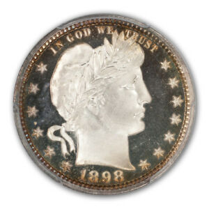Click now to see the BUY IT NOW Price! 1898 25C BARBER QUARTER PCGS PR68DCAM  CAC