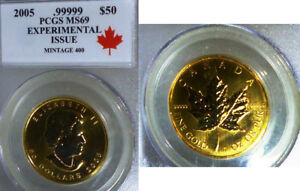 Click now to see the BUY IT NOW Price! 2005 PCGS MS69  GOLD MAPLE LEAF   EXPERIMENTAL ISSUE . MINTAGE 400