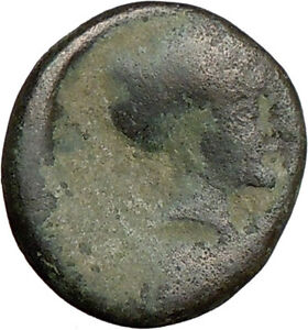 PHALANNA IN THESSALY 350BC ANCIENT GREEK COIN YOUNG MALE NYMPH PHALANNA  I18968
