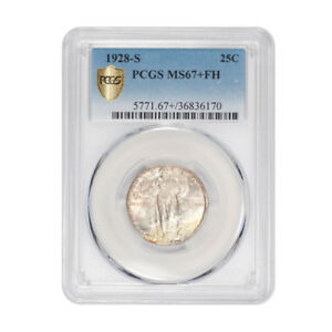Click now to see the BUY IT NOW Price! 1928 S 25C STANDING LIBERTY QUARTER PCGS MS67 FH