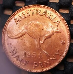1964Y AUSTRALIA HALF PENNY EX   MINT ROLL IN UNCIRCULATED CONDITION   23