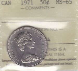 Click now to see the BUY IT NOW Price! 1971 ICCS MS65 50 CENTS CANADA FIFTY HALF DOLLAR