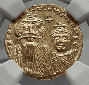 Click now to see the BUY IT NOW Price! CONSTANS II PAGONATOS & CONSTANTINE IV GOLD ANCIENT BYZANTINE COIN NGC MS I58166