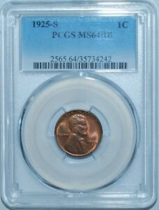 Click now to see the BUY IT NOW Price! 1925 S PCGS MS64RB RED AND BROWN LINCOLN WHEAT CENT