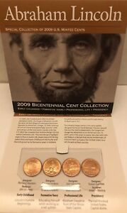 ABRAHAM LINCOLN 2009 BICENTENNIAL CENT SPECIAL COLLECTION PENNIES COINS AMERICA