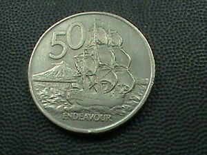 NEW  ZEALAND    50 CENTS   1974      $ 2.99  MAXIMUM  SHIPPING  IN  USA