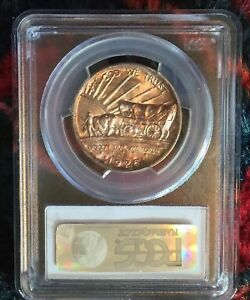 1926 S OREGON TRAIL SILVER COMMEMORATIVE HALF DOLLAR PCGS MS67 RAINBOW TONING