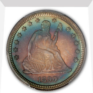 Click now to see the BUY IT NOW Price! 1890 25C LIBERTY SEATED QUARTER PCGS PR68  CAC