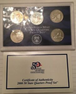 UNITED STATES MINT PROOF SET 2000   S  STATE QUARTERS