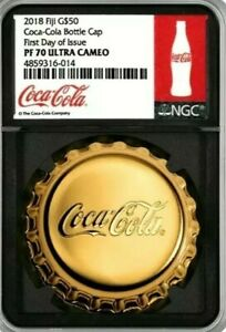 Click now to see the BUY IT NOW Price! 2018 NGC FIJI $50 1OZ GOLD COCA COLA PR70 FDOI MINTAGE 250 FIRST 1OZ GOLD EVER