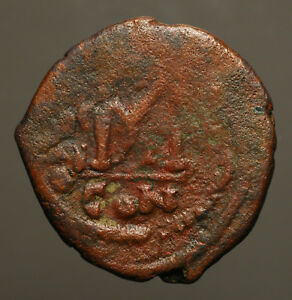 B22 04 BYZANTINE.  HERACLIUS 610 641AD AE FOLLIS CONSTANTINOPLE YEAR UNCLEAR