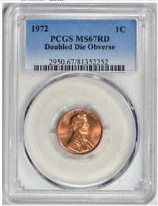 Click now to see the BUY IT NOW Price! 1972/72 DOUBLED DIE LINCOLN CENT   PCGS MS 67 RED   ONLY  1  GRADED HIGHER