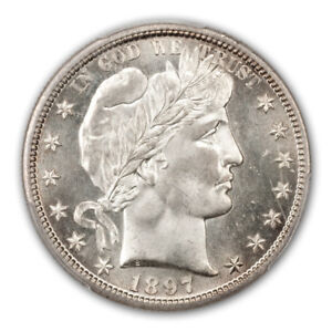Click now to see the BUY IT NOW Price! 1897 S 50C BARBER HALF DOLLAR PCGS MS67  CAC