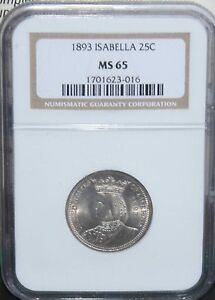Click now to see the BUY IT NOW Price! 1893 ISABELLA QUARTER SILVER COMM. NGC MS 65