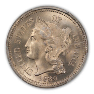 Click now to see the BUY IT NOW Price! 1880 3CN THREE CENT NICKEL PCGS MS67