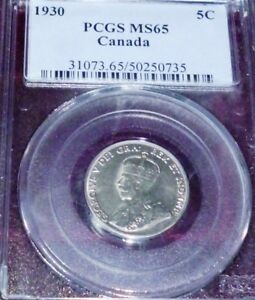 Click now to see the BUY IT NOW Price! 1930  CANADA FIVE CENTS  PCGS MS65