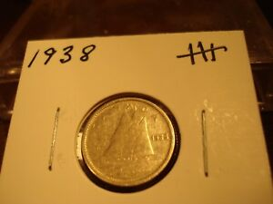 1938   CANADA DIME   SILVER   CANADIAN 10 CENT