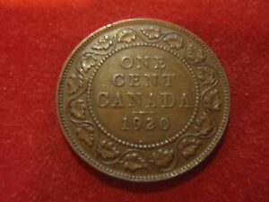CANADA LARGE CENT   1920      99 YEARS OLD  ADD TO YOUR COLLECTION