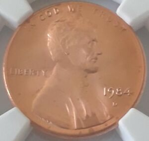 1984 D 1C MS 67 RD NGC LINCOLN MEMORIAL CENT