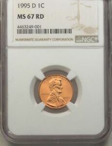 1995 D 1C MS 67 RD NGC LINCOLN MEMORIAL CENT