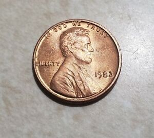 1982 LINCOLN MEMORIAL CENT UNCIRCULATED BU RED PENNY