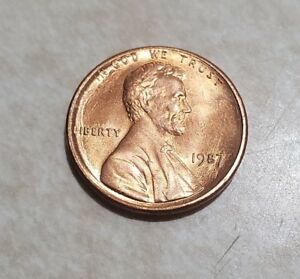 1987 LINCOLN MEMORIAL CENT UNCIRCULATED BU RED PENNY