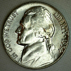 1954 D JEFFERSON NICKEL UNC FIVE CENT CHOICE COIN FROM ROLL MADE IN USA R