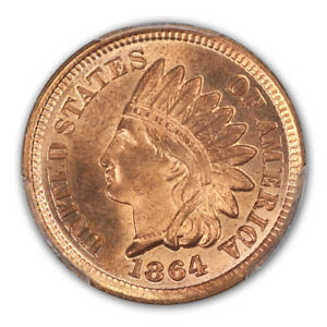 Click now to see the BUY IT NOW Price! 1864 1C BRONZE INDIAN CENT   TYPE 3 BRONZE PCGS MS66 RD