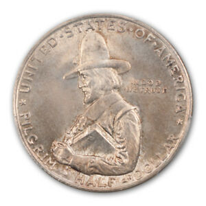 Click now to see the BUY IT NOW Price! PILGRIM 1920 50C SILVER COMMEMORATIVE PCGS MS67