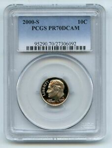 Click now to see the BUY IT NOW Price! 2000 S 10C CLAD ROOSEVELT DIME PROOF PCGS PR70 PR70DCAM
