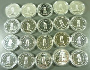 Click now to see the BUY IT NOW Price! LOT: 20 CANADA 1977 ELIZABETH II JUBILEE SILVER DOLLARS $1.00 BU IN CAPSULES