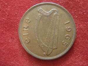 IRELAND LARGE PENNY   1965      54 YEARS OLD   LOOK