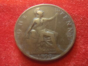 BRITISH LARGE PENNY   1897      122 YEARS OLD   QUEEN VICTORIA