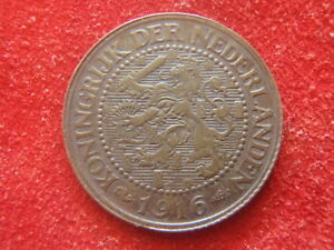 NETHERLANDS   1916   21/2 CENT    ALMOST UNCIRCULATED   NICE  103 YEARS OLD