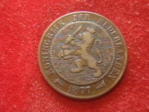 NETHERLANDS   1877   2 1/2 CENT      142 YEARS OLD   LOOK