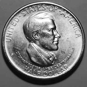 1936 S CINCINNATI  COMMEMORATIVE SILVER HALF DOLLAR   GEM BU  3