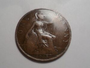 1915 NICE LARGE ONE PENNY GREAT BRITAIN COPPER MINTAGE 47 311 000