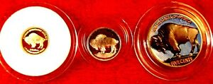 COOK ISLANDS 2008 SOLID.9999 GOLD COIN BUFFALO INVESTMENT 3 COIN  LAST ONE