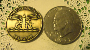 COMMERATIVE LARGE/DOLLAR SIZE /HEAVY MEDAL/TOKEN /BEACH SPORTS DELAWARE 95
