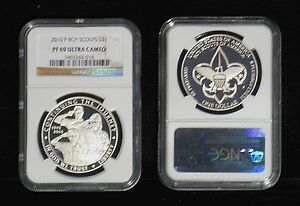2010 BOY SCOUTS 100TH ANN. SILVER DOLLAR PF 69 ULTRA CAMEO  NGC
