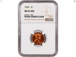 Click now to see the BUY IT NOW Price! 1954 1C NGC MS67 RD   REGISTRY QUALITY    LINCOLN CENT   REGISTRY QUALITY