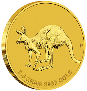 2019 AUSTRALIA MINI ROO $2 0.5 GRAM .9999 PURE GOLD PROOF COIN IN CARD KANGAROO