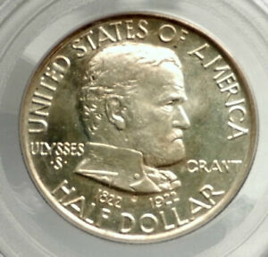 Click now to see the BUY IT NOW Price! 1922 CIVIL WAR GENERAL GRANT COMMEMORATIVE SILVER HALF DOLLAR COIN PCGS I76437