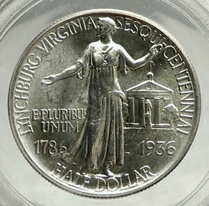 Click now to see the BUY IT NOW Price! 1936 LYNCHBURG VIRGINIA COURT COMMEMORATIVE SILVER HALF DOLLAR COIN PCGS I76443