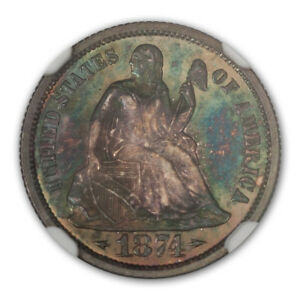 Click now to see the BUY IT NOW Price! 1874 ARROWS SEATED LIBERTY DIME 10C NGC PR66