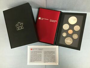 1986 CANADA SILVER DOUBLE DOLLAR 7 COIN PROOF SET VANCOUVER BOX & PAPERS CPS094