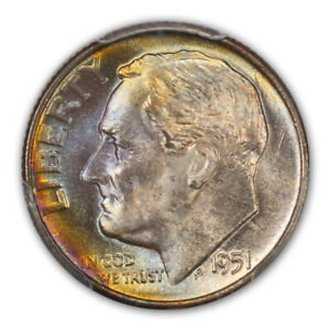 Click now to see the BUY IT NOW Price! 1951 D 10C ROOSEVELT DIME PCGS MS68FB