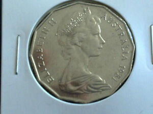 AUSTRALIAN 50 CENT 1981   EXTREMLY FINE CIRCULATED